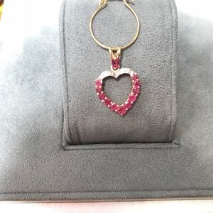 Vintage 80's ruby heart